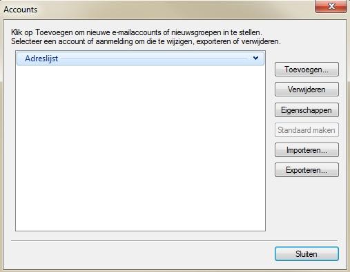 windows live mail verwijderen